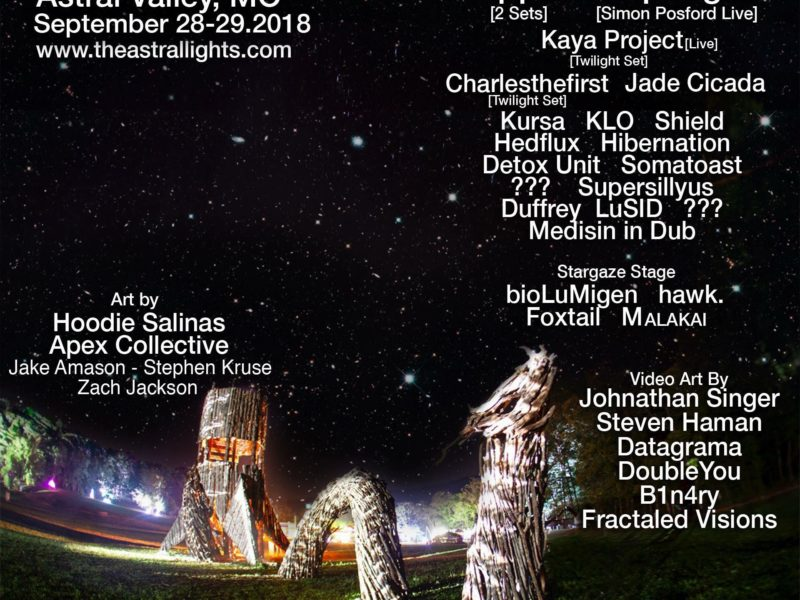 Astral Lights, Astral Valley, MO with Shpongle (Simon Posford Live Set) 28-29 Sept 2018